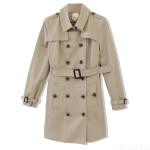 Liz Double Breasted Cotton Belted Trench Coat $148