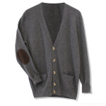 Medill Elbow Patch Cashmere Cardigan $158