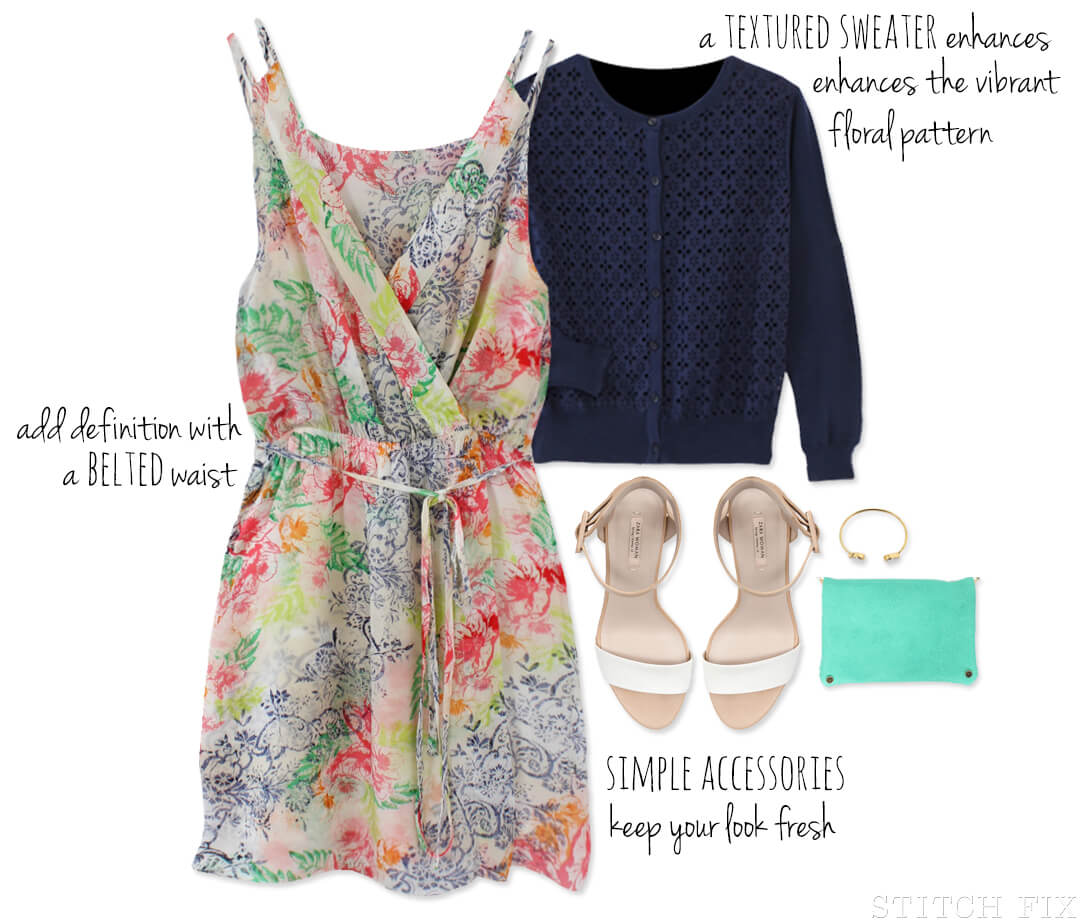 Floral Dress Outfit For Spring