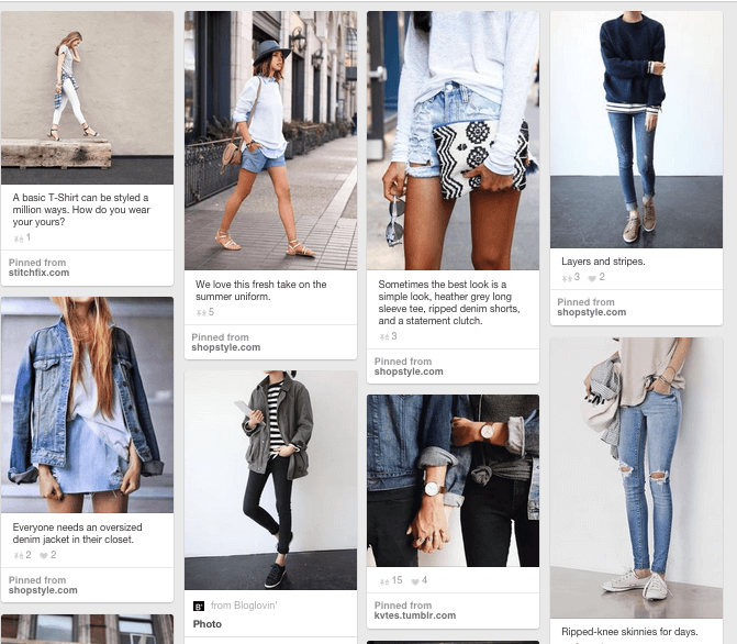 Creating a Stitch Fix Pinterest Style Board