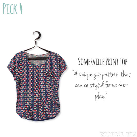 4 Somerville Print Top
