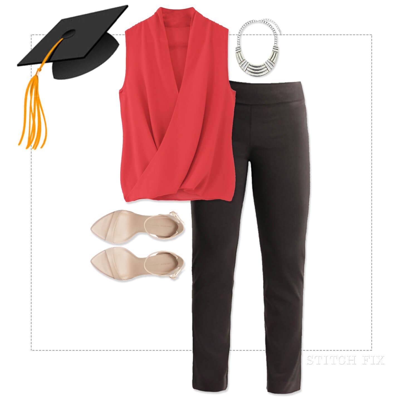 Graduation Outfit, Blouse and Slacks