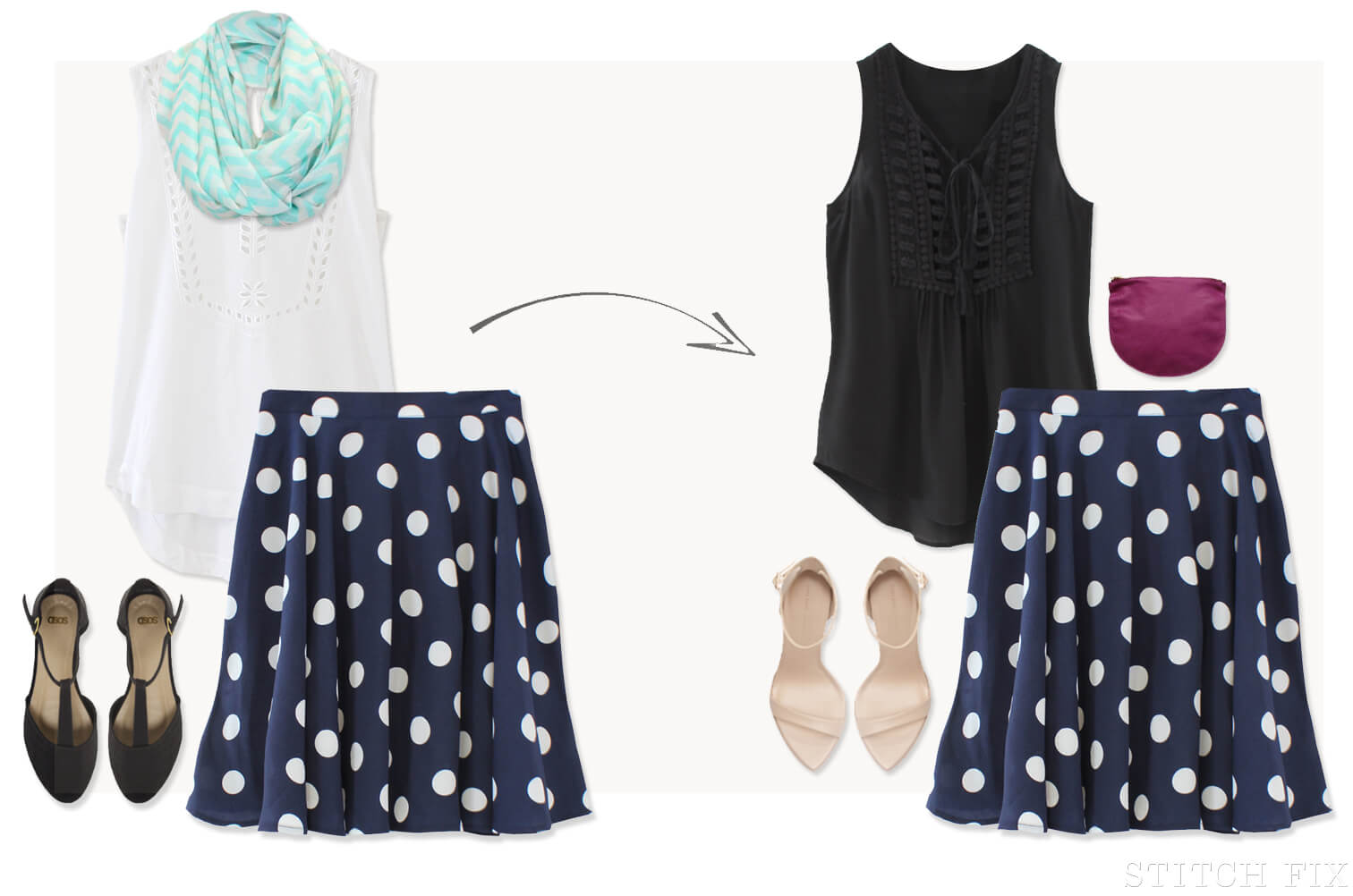 Printed Bottoms, multiple ways to wear. The Skirt
