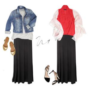 AAS- Black Maxi Skirt