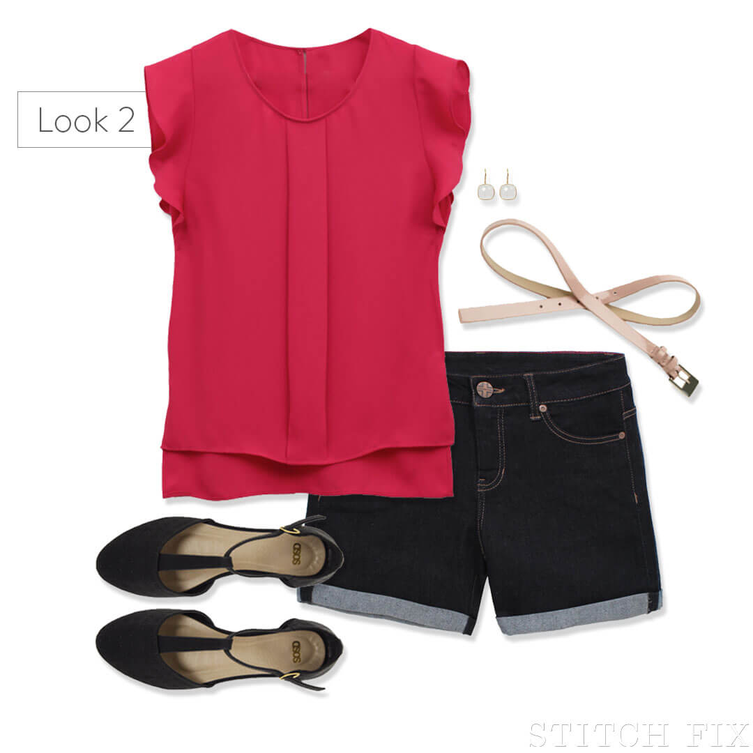 AAS- Shorts for pear-shaped women LOOK 2