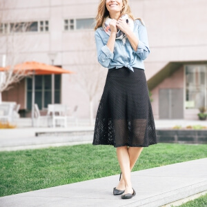 how to style a mesh skirt three ways