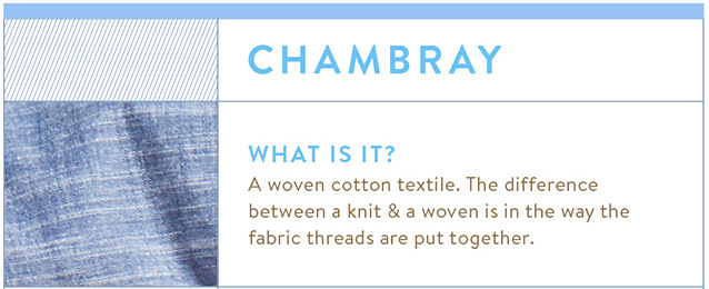 Summer Fabrics Guide: Chambray
