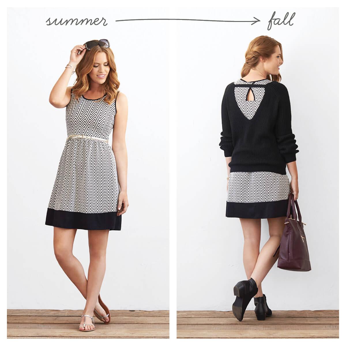 How to make a summer dress a winter dress