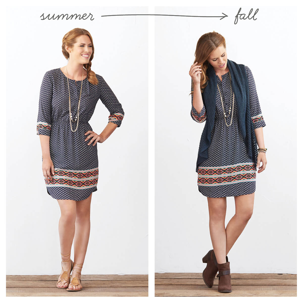 Wear summer dress in fall