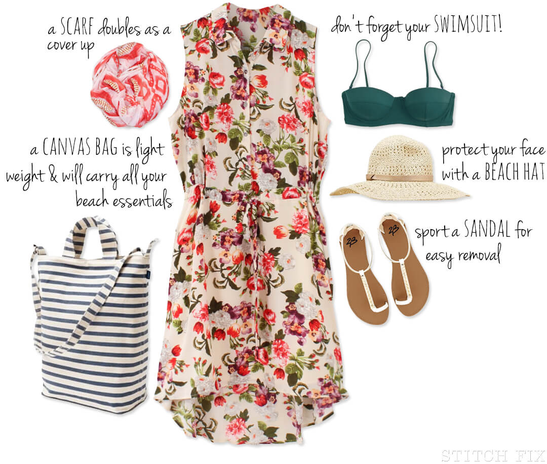 Floral Beach Dress Outfitting