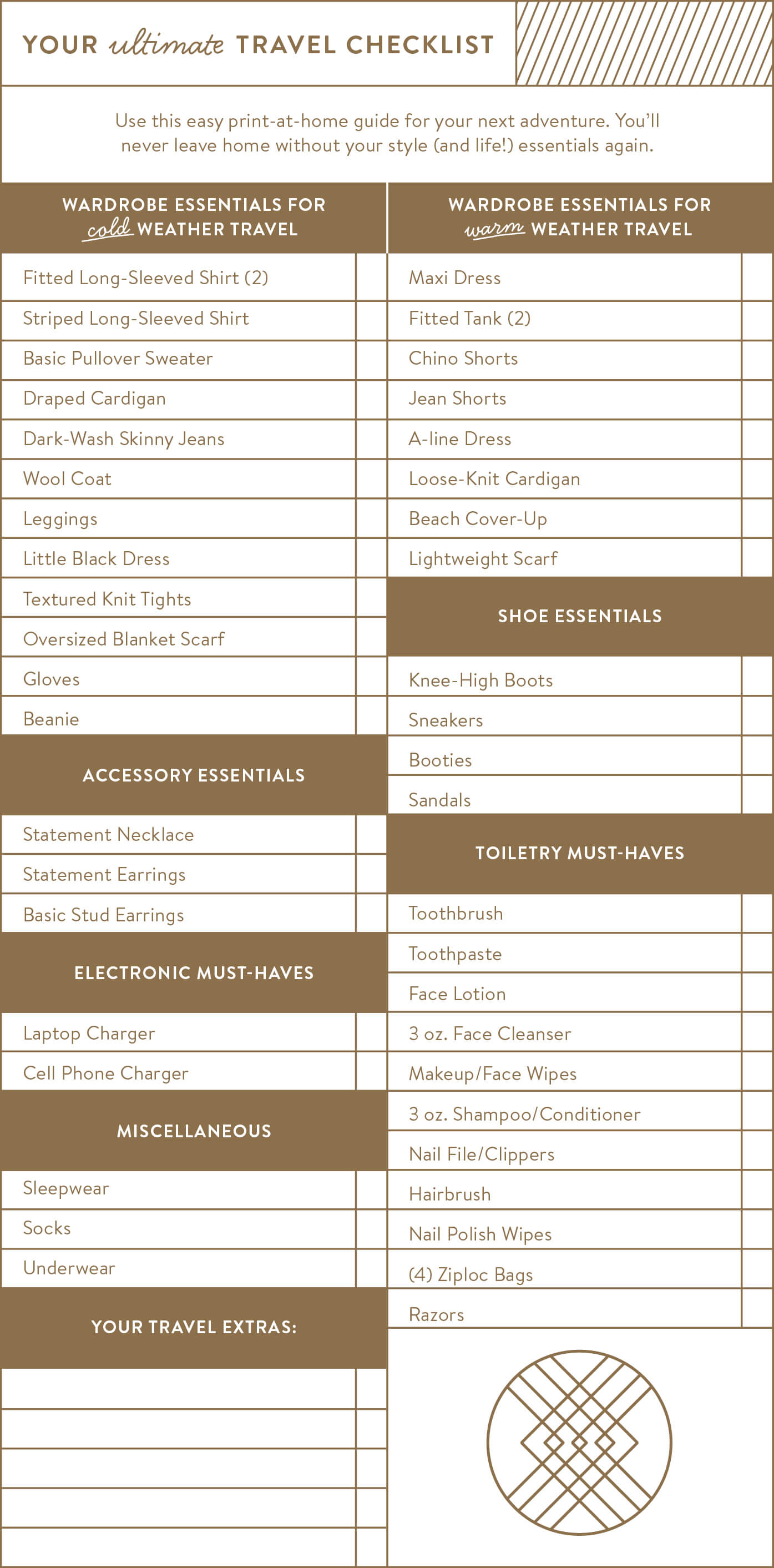 There's really nothing worse than forgetting (fill in any item here) when you travel. Never forget another style or life essential with your ultimate travel checklist!