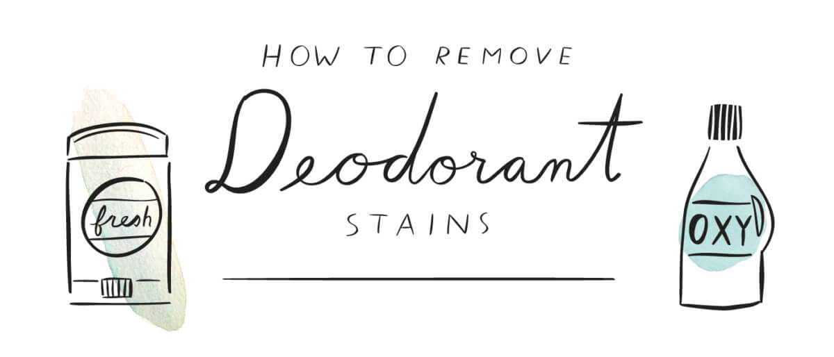How to remove deodorant stains
