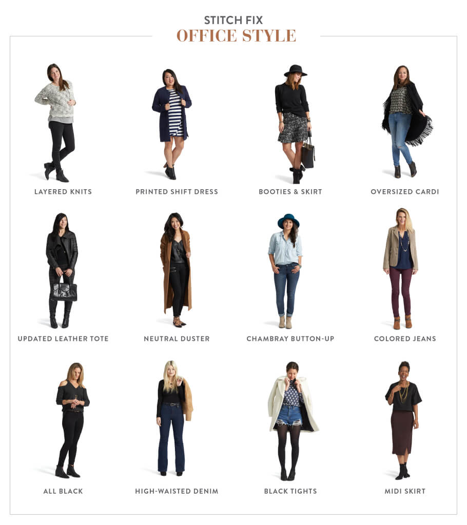 Below are 12 real Stitch Fix employees, with tips to expand your workwear options in 2016.