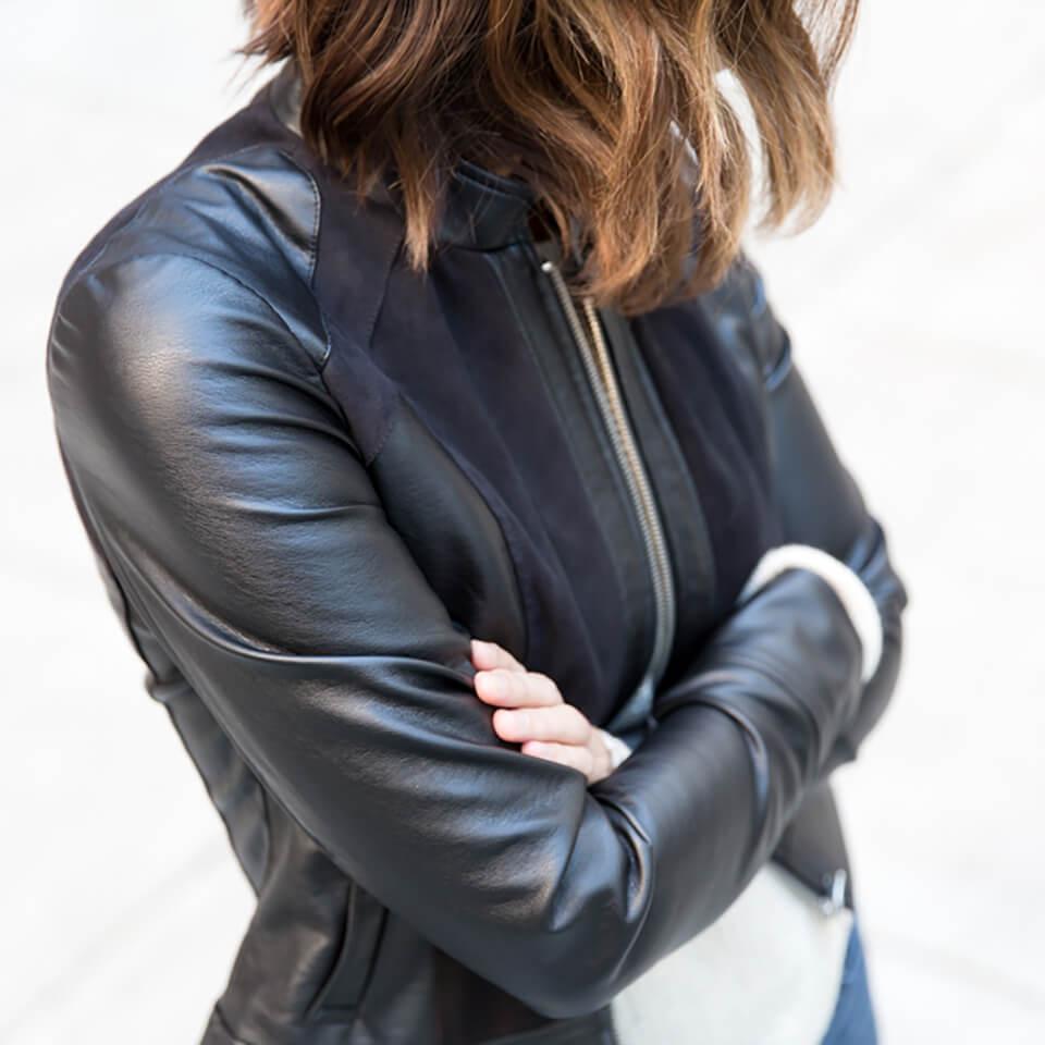 How do I style a moto jacket?