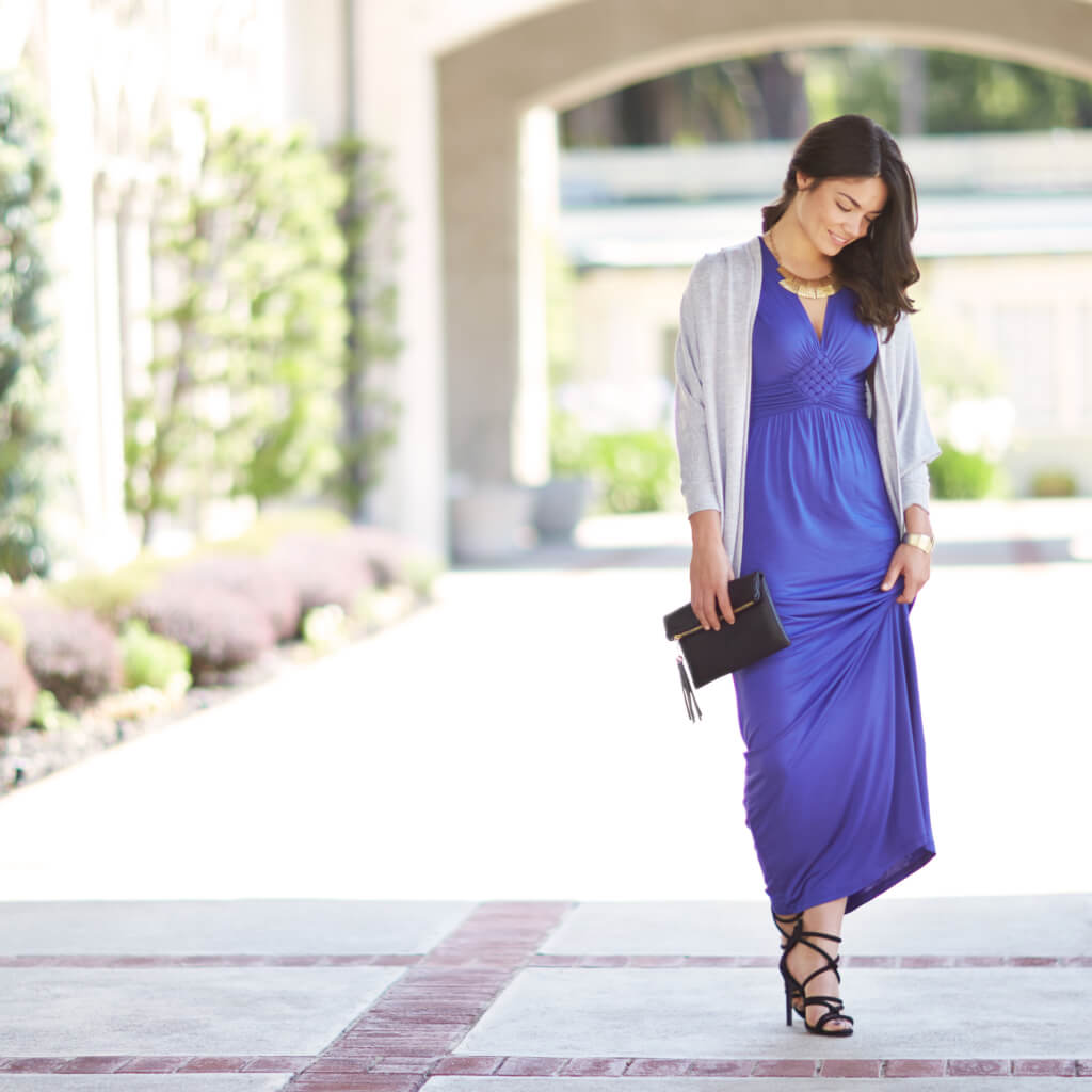 Jacket with maxi dress