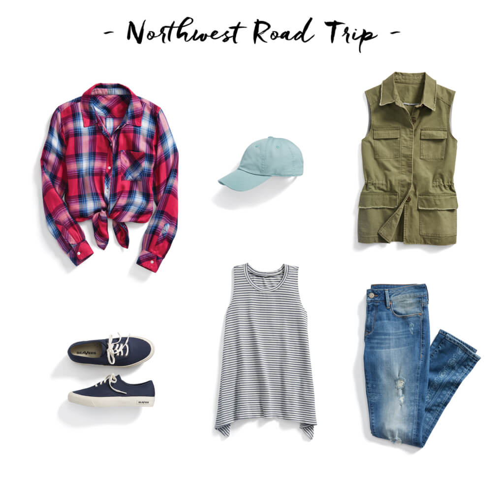 If you're headed to the birthplace of grunge this summer, take a cue from the rockers of the '90s with a plaid shirt and distressed denim.