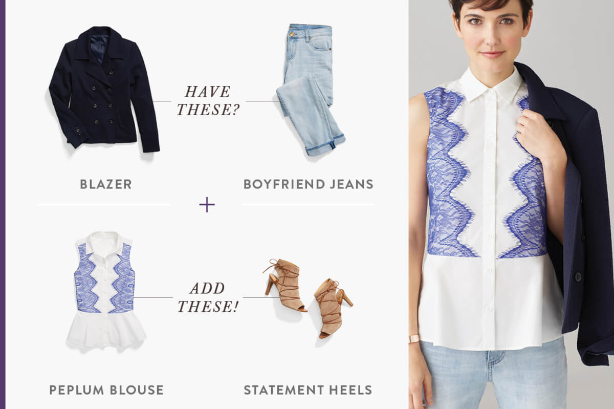 Sure, a seasonal closet overhaul would be the dream, but between work, budgets, kids, and everything in between, it might be last on your to-do list. That's why we've created a simple outfit formula that takes tried-and-true staples and injects a healthy dose of seasonal trends. Here are five ways to give your look a boost—instantly.
