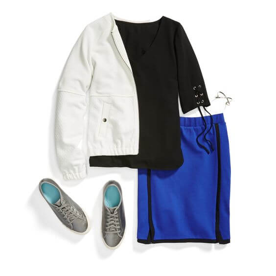 How to dress an inverted triangle shape