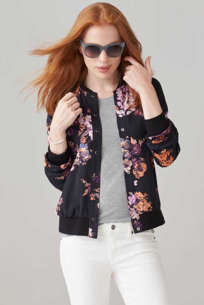 What to Wear with a Floral Jacket