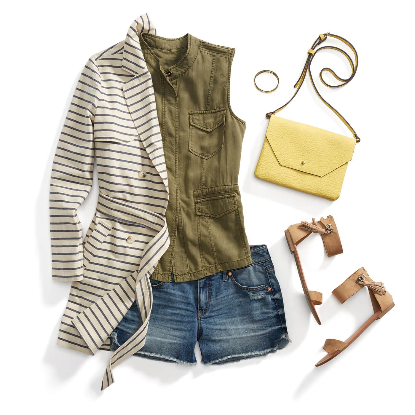 Style a Striped Jacket