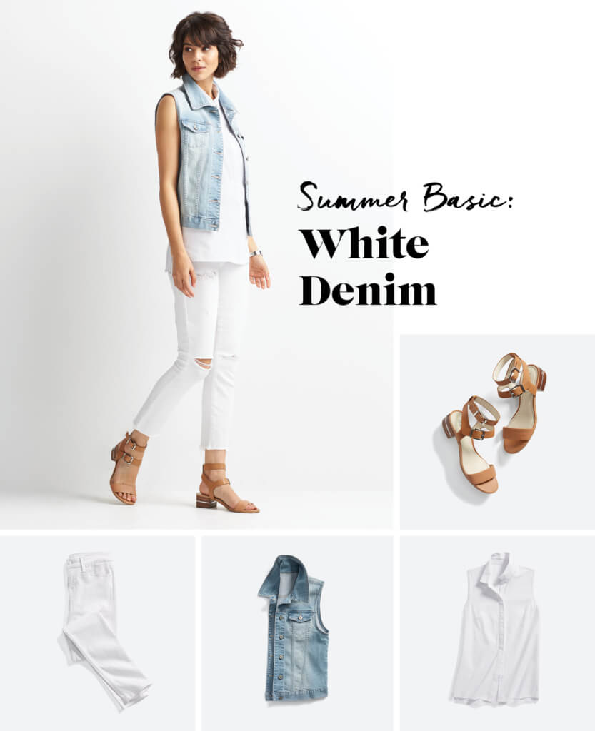 Shake Up Your White Denim