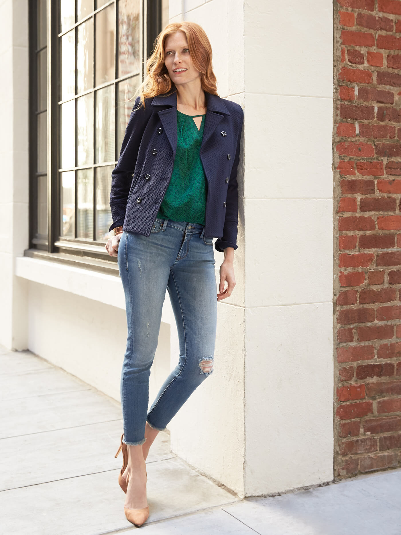 How to Wear Skinny Jeans with workwear