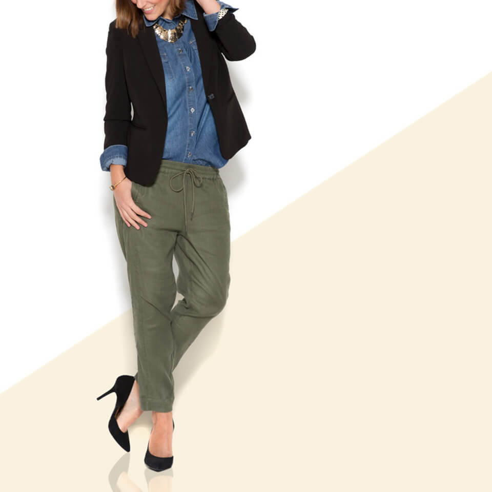 What to Wear with Olive Jeans