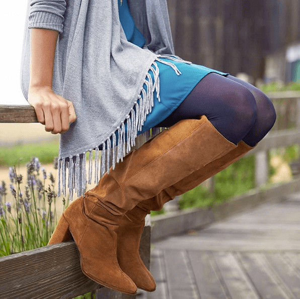 How to Wear Knee High Boots with Dress