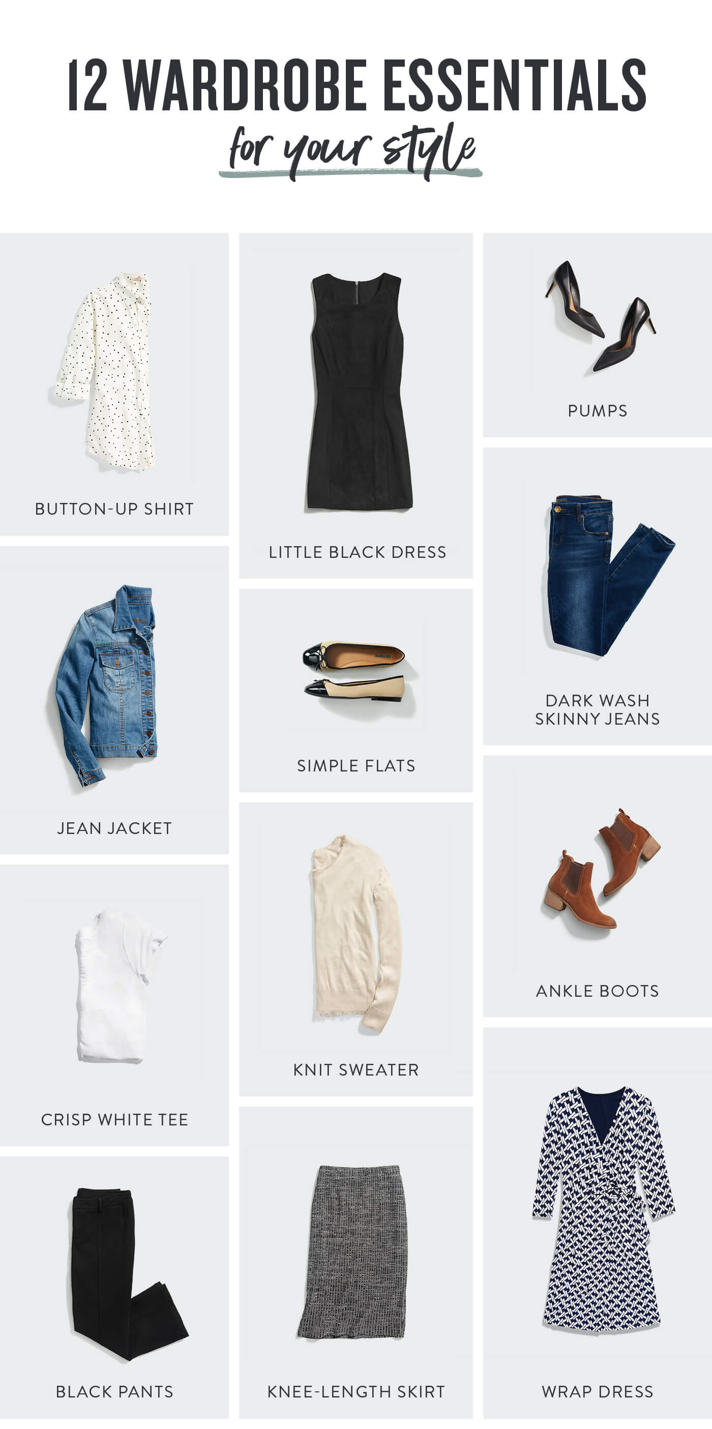 e5eb0823fab1 12 Wardrobe Essentials for Your Lifestyle