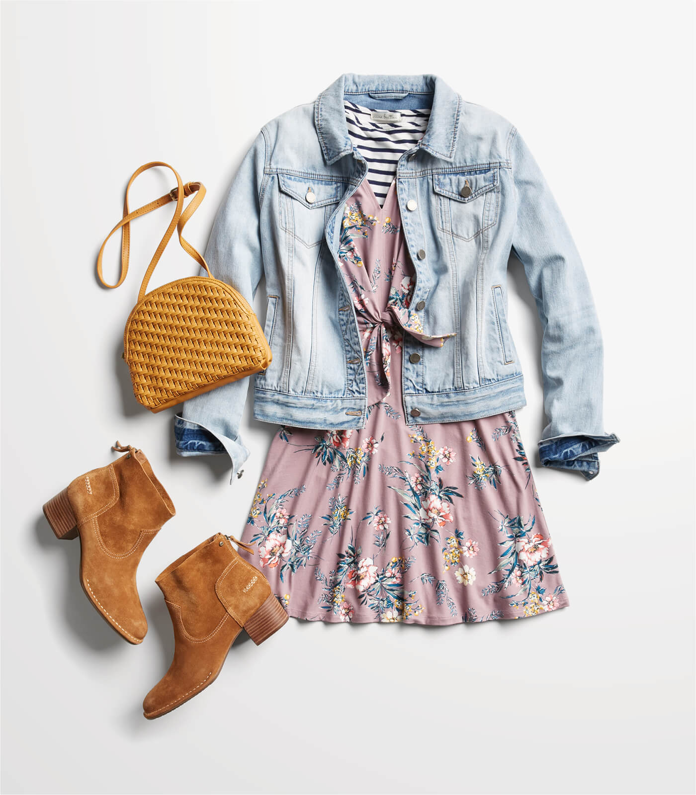jean jacket with a dress