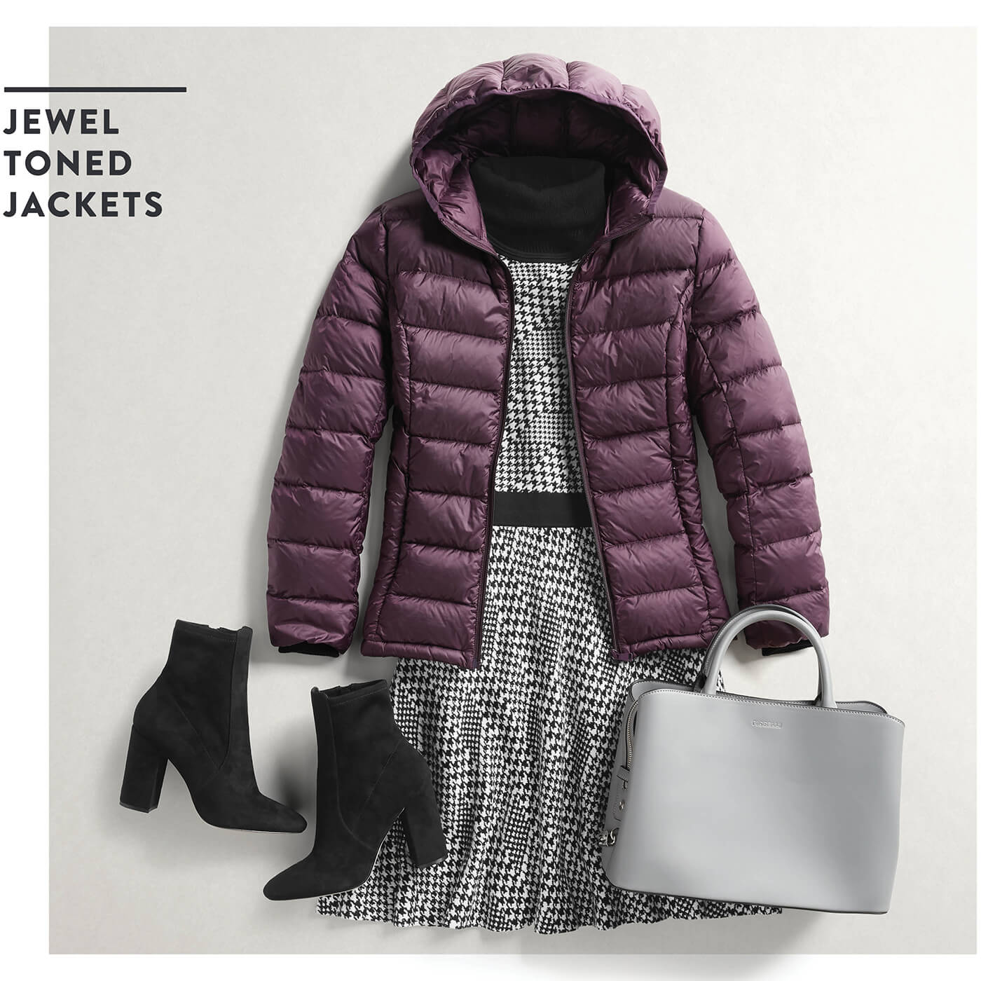 puffer jacket with dress