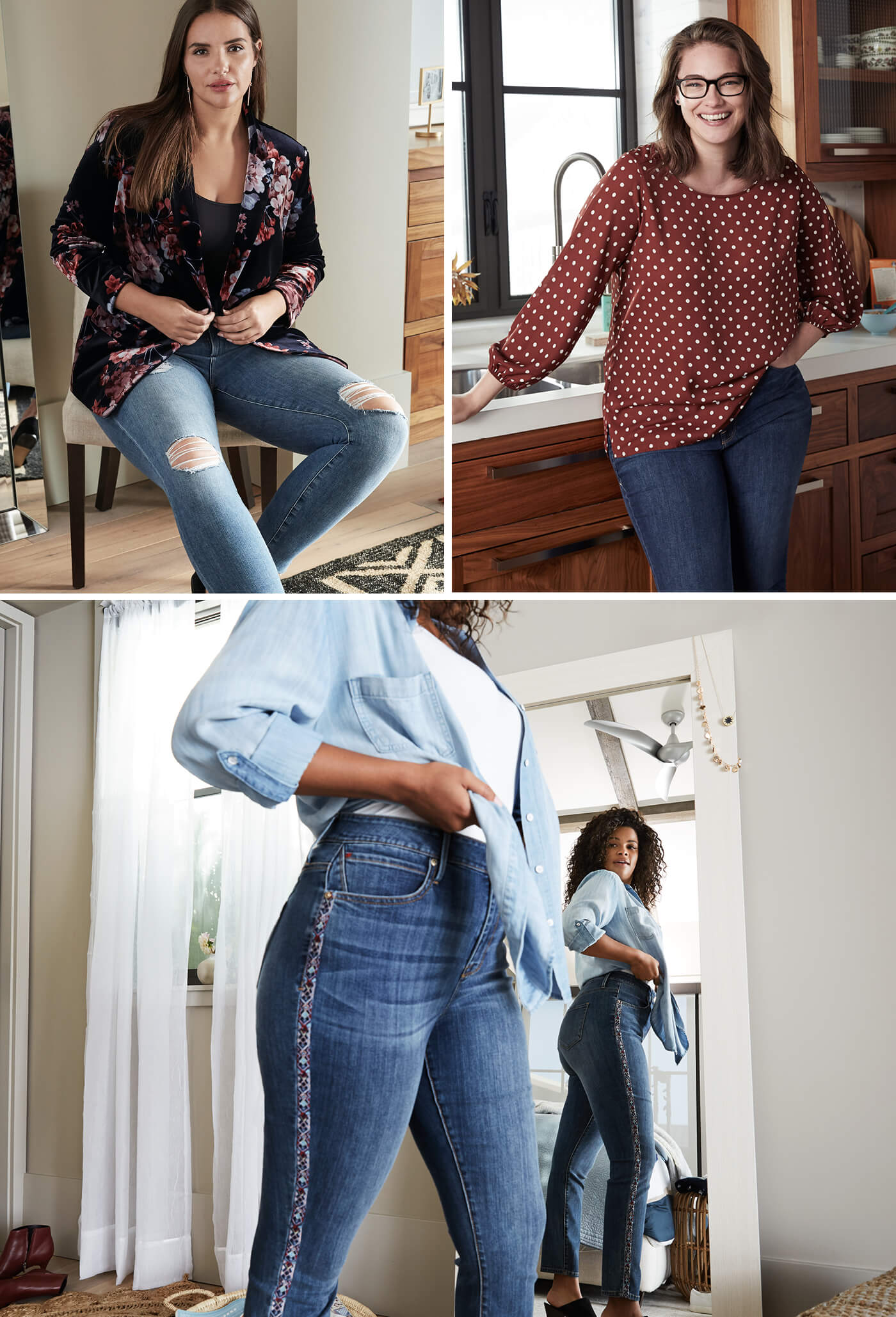 denim for plus women