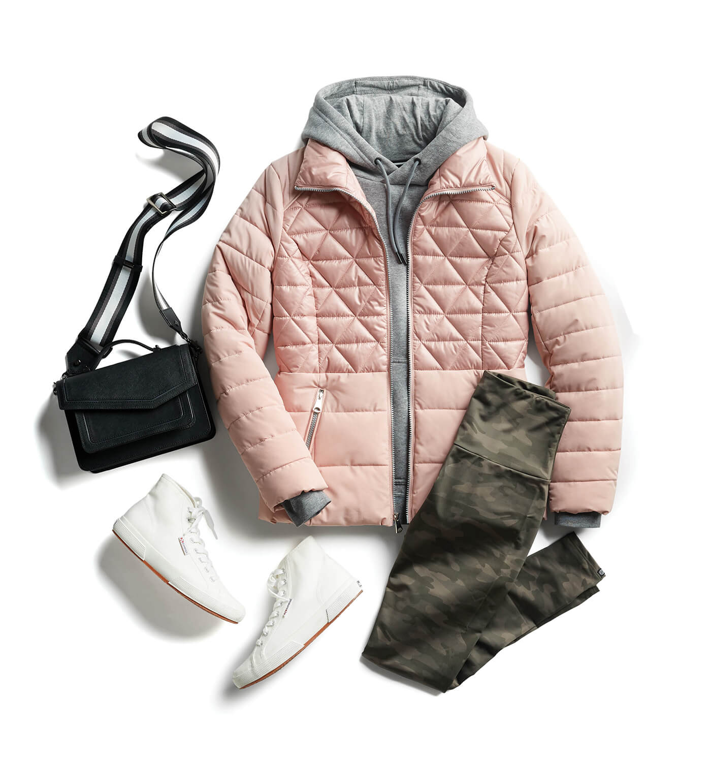 puffer jacket with leggings